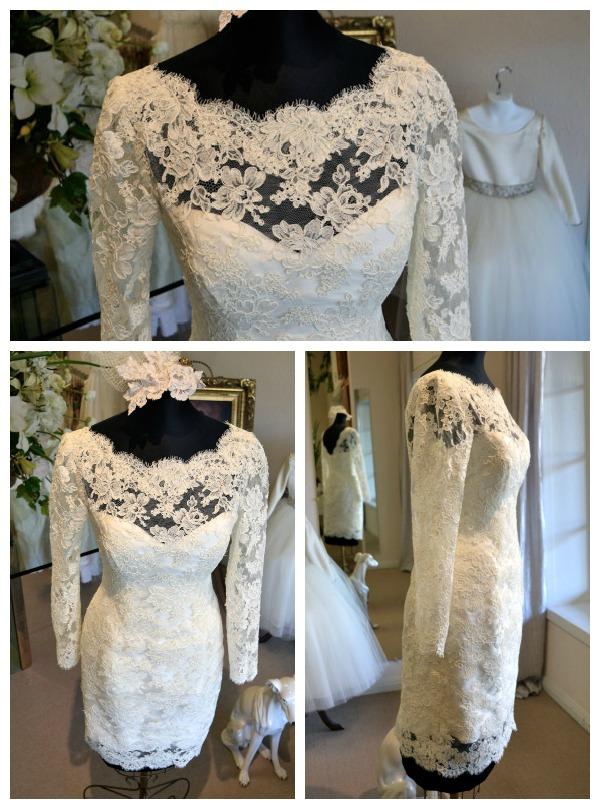Short lace wedding dress etsy wedding short dresses short lace wedding dress etsy 77 sciox Choice Image